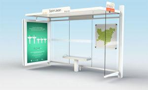 abribus CIRRUS à caisson publicitaire réseau Provence Verte